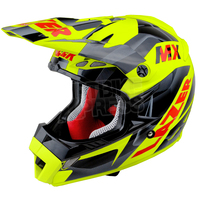 Lazer MX8 Pure Glass Geopop Yellow - Black - Red
