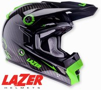 Lazer MX8 Pure Carbon Black Carbon - Green