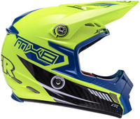 Lazer MX8 Carbon Tech Yellow Fluo - Blue